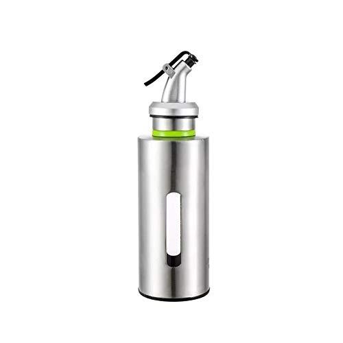 WWWANG Acero inoxidable 304 Aceite de Caldera, la botella de aceite Domésticos de Cocina, cristal a prueba de fugas grande y botella pequeña salsa de soja, vinagre Hervidor fragante del tanque de acei