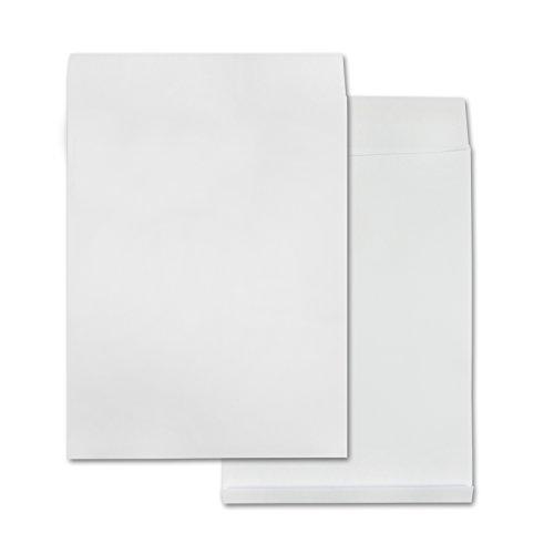 versando 100 Faltentaschen Versandtaschen B4 (250x353 mm) weiß 4cm Falte
