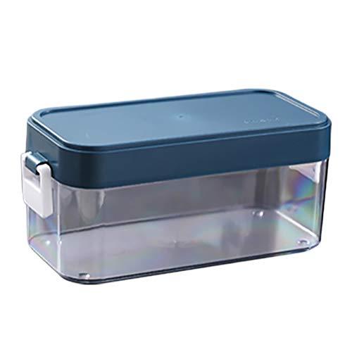 Delaspe Cubitera de hielo moldeada, portátil, con tapa, adecuada para casa y al aire libre