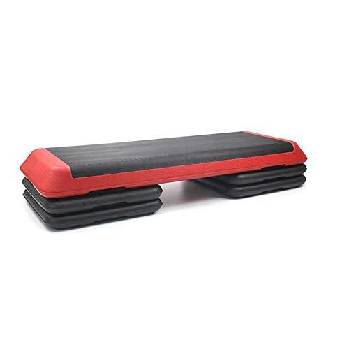 L.J.JZDY Yoga Stuhl Fitness Aerobic Step Einstellbare Übung Stepper Podeste for die Fettverbrennung Muskel Kalb Übung Inversion Ausrüstung (Color : Rot, Size : Kostenlos)