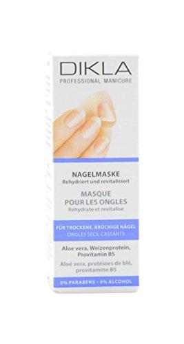 DIKLA Masque pour ongles 12 ml - Hydratation intense pour ongles secs et cassants - Avec aloe vera et provitamine B5