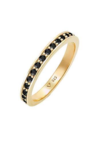 Elli Ring Damen Bandring mit Kristallen in 925 Sterling Silber