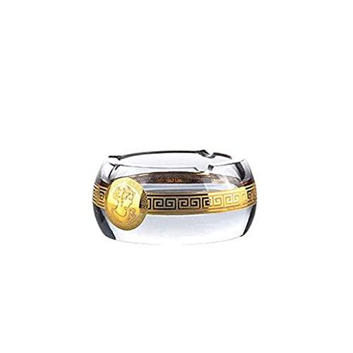 AYCPG Regalo cenicero Transparente Vidrio cenicero Sala de Estar casa Mesa de café Estudio Oficina de Escritorio decoración sin Cubierta cenicero Amigo Regalo hogar cenicero lucar (Size : A)