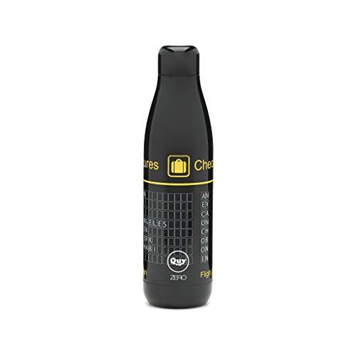 QUY CUP Zero. 500ml. Bottiglia Termica Sottovuoto e Isolato. per Bevande Calde e Fredde. Design Italiano Thermos in Acciaio Inossidabile a Doppia Parete.