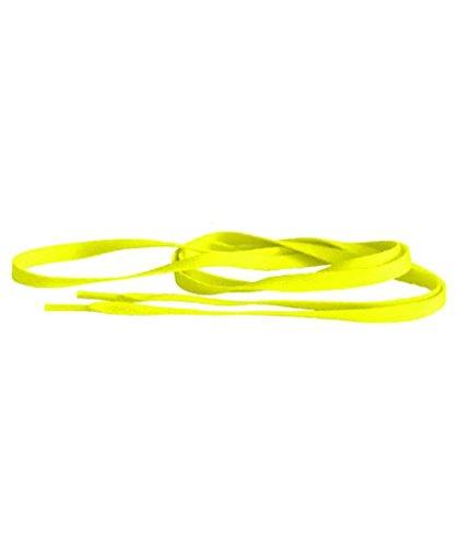 Schnürsenkel Tubes 120 neon orange, Neon Yellow (Neongelb), Einheitsgröße