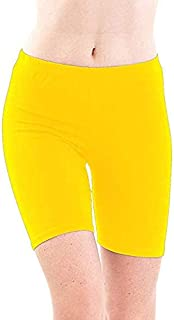 ROOLIUMS ® (Brand Factory Outlet -Biowashed 220 GSM Cotton Lycra Girls/Women Cycling, Yoga, Jogging Shorts/Tights, 4 Way Stretchable Shorts Pack of 1