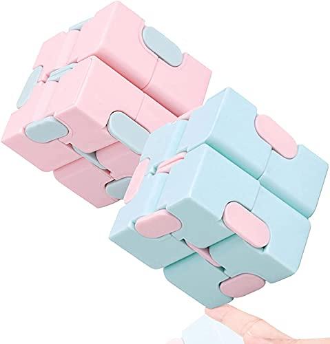 AYCA Infinity Cube, Fidget Infinity Cube, Mini Cube Fidget Toys para aliviar el estrés y la ansiedad Juguetes relajantes (color3)