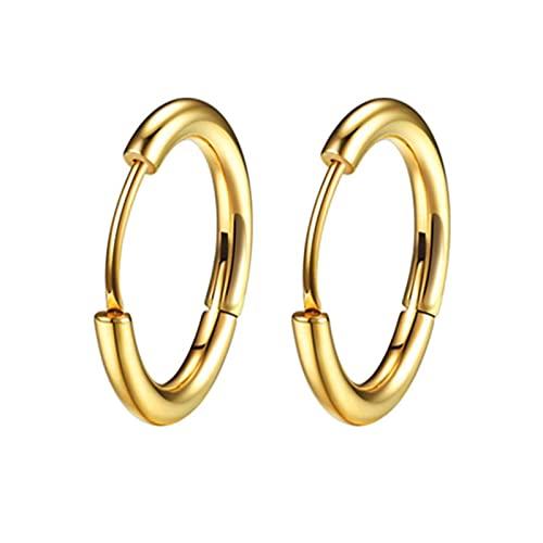 1 Mujeres/Hombre Acero Inoxidable Pendientes de pezuña Pierced Ear Cartílago Sashili Simple Círculo Delgado Anti-Allergy Oreja TINGG