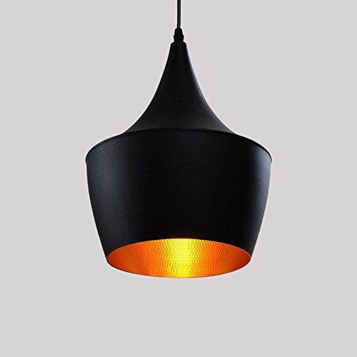 E27 Métal Retro Suspensions Luminaire Lampe Industriel Vintage Plafonnier Luminaire Antique Pendante éclairage Vintage Aluminium Plafond Lustre Plafonnier Lampe LED Antique Suspensions Luminaire(Noire)