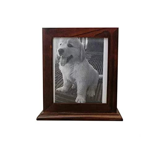 Yang2019 Urna pequeña de madera para cenizas de mascotas, urna conmemorativa de recuerdo para perros y gatos