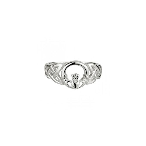 Failte Celtic Knot & Claddagh Ring Sterling Silver Sz 8.5