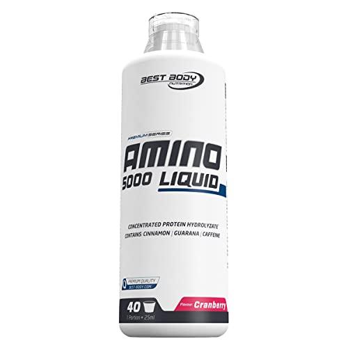 Best Body Nutrition Amino Liquid 5000 Cranberry, 1er Pack (1 x 1000 ml)