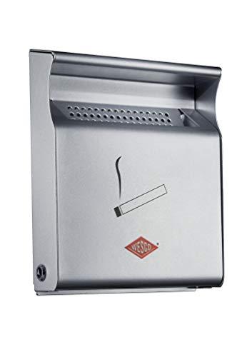 WESCO Silber Wandascher 395001-11, Edelstahl, 23.2x28.5x6.2cm (B/H/T)