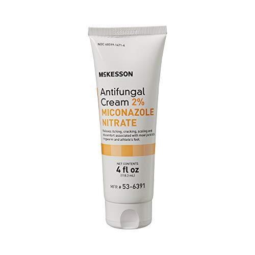 McKesson 2% Miconazole Nitrate Antifungal Cream, 4 oz.Tube