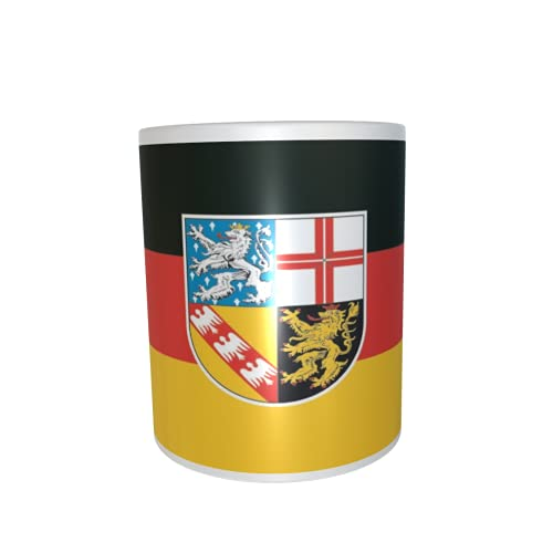 U24 Tasse Kaffeebecher Mug Cup Flagge Saarland