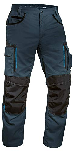 Panoply Mach2 Boilersuit Overalls Coverall With Knee Pad Pockets Large - 40-43 Chest - 31 Leg, Navy with Royal Blue trim