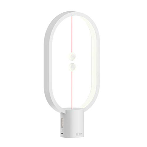 OttoBen Nachttischlampe Magnetischer Kugelschalter Dimmbar USB Tischlampe Kreativ 6 Modi Tragbar Frisches Geschenk für Männer Frauen Jugendliche Kinder Weiß