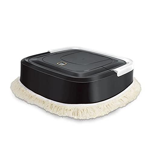 Prospective Auto trapeador Robot aspiradora aspiradora automática Sweeper Piso Limpiador Alfombra Limpio Recargable seco Mojado de Limpieza de hogar (Color : Black)