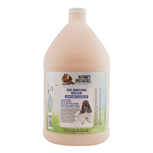 Nature's Specialties Moisturizing Dog Conditioner for Pets, Concentrate 32:1, Made in USA, Aloe Conditioner, 1gal