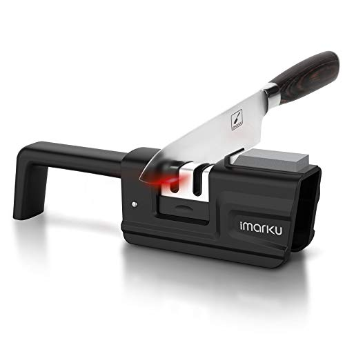 2-in-1 Kitchen Knife Accessories, 3-Stage Knife Sharpener Helps Repair, Professional chef knife sharpener, Knife Sharpening Tool with Sharpening Stone, Restore and Polish Blades