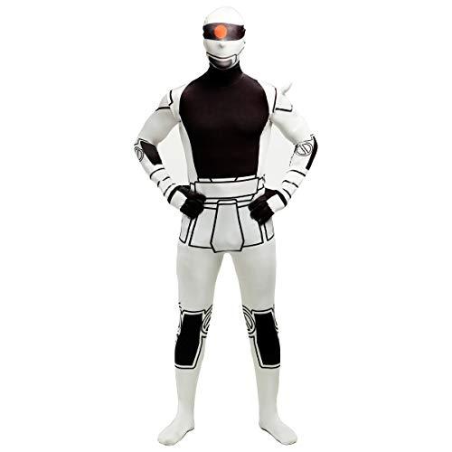 FYBR Disfraz de Robot SuperSkin para Adultos, Unisex, para Hombres y Mujeres, Segunda Piel, Disfraz de Soldado de tormenta Zentai de Licra para Halloween, Medium