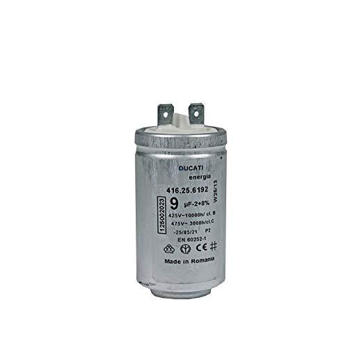Secador condensador de arranque de motor AEG de Electrolux 9 uF 450V 125002022 1250020227 DUCATI