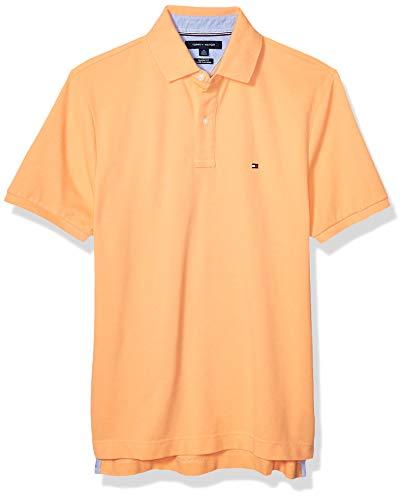 Tommy Hilfiger - Camiseta tipo polo de manga corta para hombre, de corte clásico., Polo de manga corta de ajuste clásico, L, Limpet Shell Él