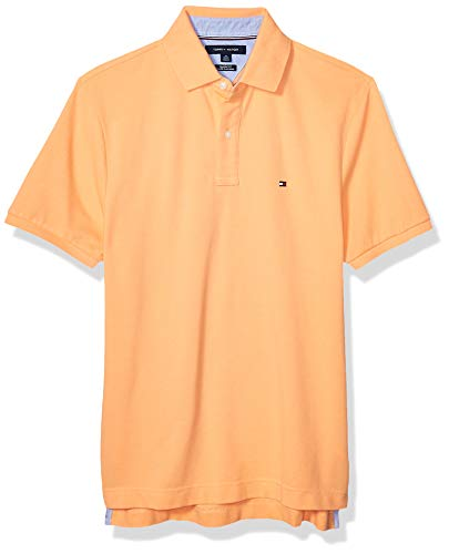 Tommy Hilfiger Men's Short Sleeve Polo Shirt in Classic-Fit, Canteloupe