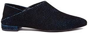 Ivy Kirzhner Pan Pointed Toe Flat Mule Blue Teal Slid Omaha Mall Limited price sale Colapsable