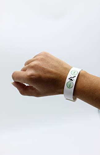 Xantus Drinkcheck K.O. Tropfen Schutz-Armband, K.O. Tropfen/GHB Testarmband, Schnelltest für eine sichere Party