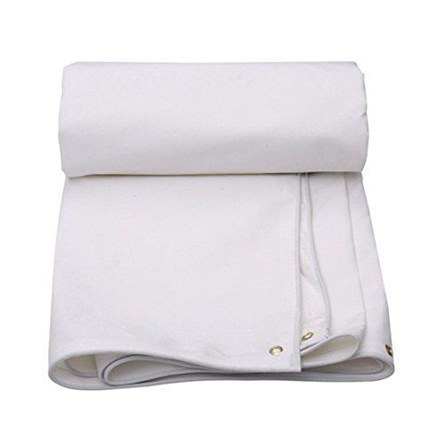 QX pengbu IAIZI Bâche imperméable, Protection Solaire Double Face imperméable à l'eau, Usage Polyvalent, Une variété de Tailles Peut Choisir -0,4 mm-450 g / m2 (Couleur : Blanc, Taille : 3 * 3m)