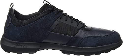 Geox Herren U Traccia B Sneaker, Blau (Navy/Black), 44 EU