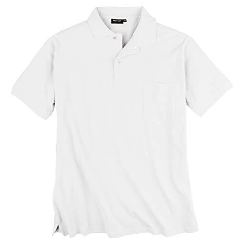Redfield Poloshirt Pique Übergröße weiß, XL Größe:10XL