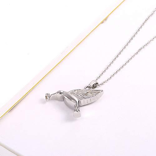 Burenqi kolibrie vogel gevormde huisdier verlies roestvrij staal crematie Urn sieraden Memorial as Keepsake vrolijk