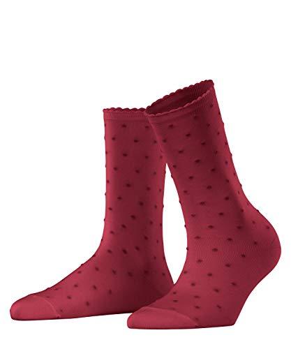FALKE Damen Fluffy Dot W SO Socken, Rot (Oxford 8430), 39-42 (UK 5.5-8 Ι US 8-10.5)