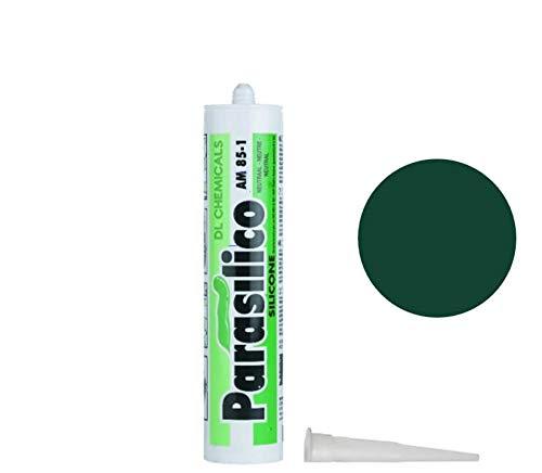 Profi Silikon Parasilico 310ml Kartusche Dichtstoff Sanitär, Küchenbereich, Innen-und Außen Bausilikon, Große Farbauswahl (grün/Moosgrün RAL 6005)