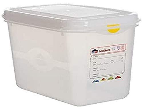 Genware 12420 Boîte de rangement, 1/4 GN, 150 mm profond, 4.3 L (Lot de 6)