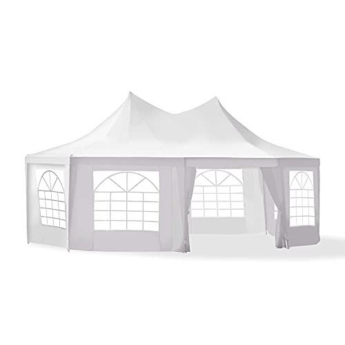 Outsunny 22' x 16' ft Canopy Party Event Tent with 2 Pull-Back Doors, Column-Less Event Space, & 8 Cathedral Windows