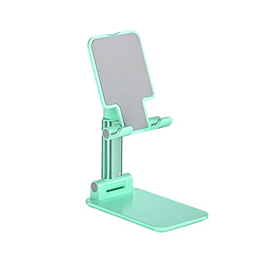 Cell Phone Stand Holder,Adjustable&Foldable&Portable Desktop Phone Holder Dock, Anti-Slip&Height Angle for All Phones Tablets (Green)