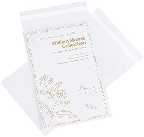Volanic 100pcs 5X7 Inch Clear Plastic Packaging Bags Thick Self Sealing OPP Cello Resealable product image