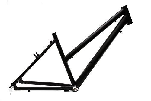 """28"""" Zoll Alu Fahrrad Rahmen Damen Trekking City Bike Rh 45cm schwarz matt Ketten Schaltung A-Head 1 1/8"""