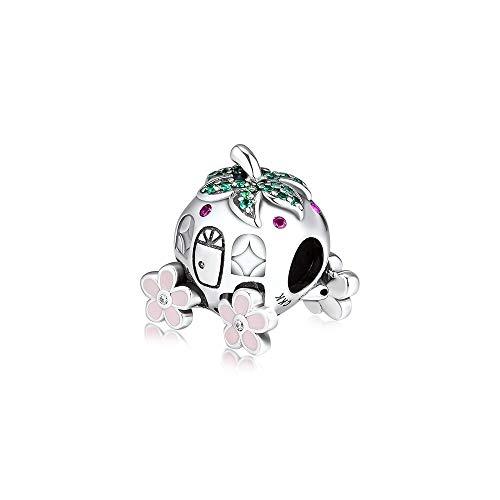 LILANG Pandora 925 Pulsera de joyería Natural Ckk Plata esterlina Cenicienta Cuentas de Fresa Haciendo encantos S Mujeres Regalos de Bricolaje