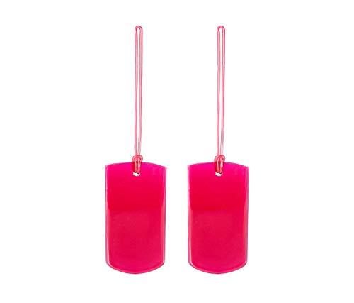 Travel 2 X Jelly Id Tags Luggage Tag, 10 cm, Blue