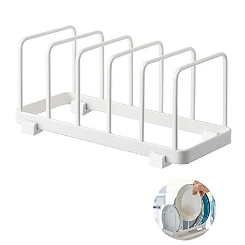 Haucy Escurreplatos de acero inoxidable para cocina, soporte para platos y cubiertos, utensilios de cocina, 21 x 10 x 10 cm
