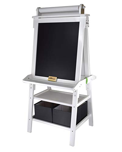 Little Partners 2-Sided A-Frame Art Easel with Chalk Board,...