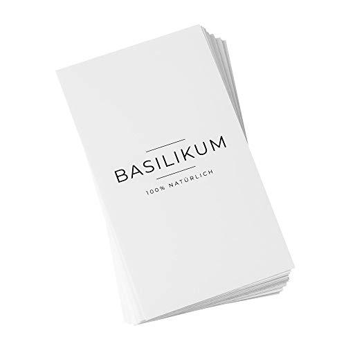 ashk® 24 Gewürzetiketten - modern & minimalistisch - Deutschsprachige Labels - 32x57mm - Weiß - eckig - Wasserfest, Abwischbar & Selbstklebend - Aufkleber für Gewürzgläser, Dosen...