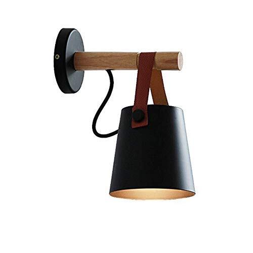 Plafondlamp Wandlamp, Modern Houten Wood Inbouw E27 Muurlampen, for Bedroom Living Room Bar Corridor Decorative Wall Lamp