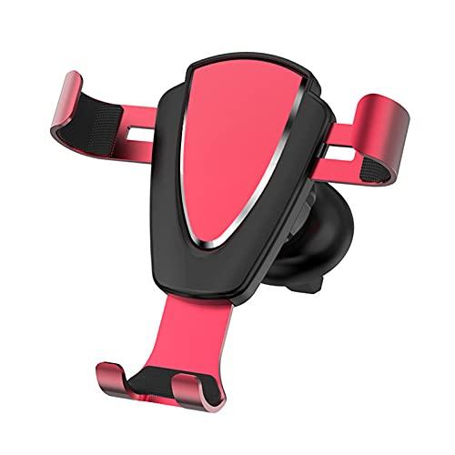 ASDFGHJKL Soporte para Teléfono para Automóvil, Soporte para Sensor De Gravedad con Salida De Aire, Soporte para Teléfono con Navegación para Automóvil, Universal,Rojo