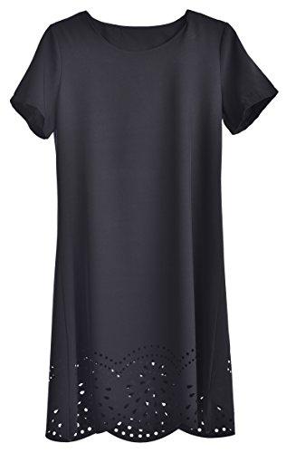 daydream Kleid Saint Tropez -  das elegante Damen Kleid für jeden Anlass , Größe S , schwarz