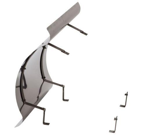 Kaminabdeckung Kaminhaube aus Edelstahl klappbar (600mm x 600mm)